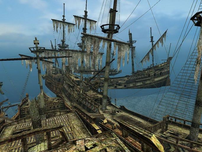 Обои Сorsairs: City of Abandoned Ships / Корсары: Город Потерянных Кораблей,
